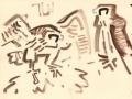 21‐4281<b>peregrines</b>gouache28 x 38 cms‐GregPoole