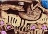 skuas handa ‐ monoprint ‐ 15 x 21 cms ‐SOLD ‐‐GregPoole