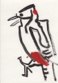 91‐4486 <b>great-spotted woodpecker</b>   21.5 x 15 cms £40&#8208;Greg&nbsp;Poole