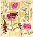 181‐6235 <b>burnet moths, damselfly, hogweed & betony</b> bristol reservoirs gouache 28 x 25 cms £90&#8208;Greg&nbsp;Poole