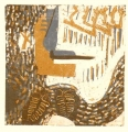 86‐5404 <b>nuthatch + oak 2</b>  monotype  &#8208;Greg&nbsp;Poole