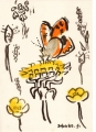 71‐6110 <b>small copper on dandelion</b> bristol reservoirs gouache 29.7 x 42 cms (A3) £90&#8208;Greg&nbsp;Poole