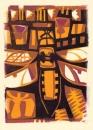 76‐3532<b>chaser, flag, thistles & bog cotton</b>32 × 24 cms&#8208;Greg&nbsp;Poole