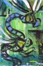 76‐3678<b>dragonfly monoprint 09</b>38 x 28 cms£120&#8208;Greg&nbsp;Poole