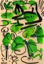 76‐4177<b>moorhen, azure & blue-tailed damsels</b>A4 (29.7 x 21cms)£120&#8208;Greg&nbsp;Poole
