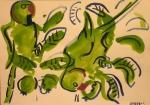 21‐4395<b>rose ringed parakeet</b>gouache29.7 x 42 cms (A3)£60‐GregPoole