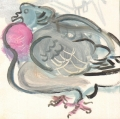 <b>wood pigeon</b>   acrylic  20 x 20 cms &#8208;Greg&nbsp;Poole