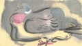 <b>wood pigeon</b>   acrylic  20 x 35 cms &#8208;Greg&nbsp;Poole