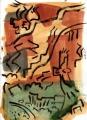 21‐4222<b>buzzard mull</b>gouache42 x 29.7 cms (A3)‐GregPoole