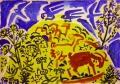 42‐5585<b>crete - eleonoras falcon, goats</b>acrylicA2 (42 x 59.4 cms)£150&#8208;Greg&nbsp;Poole