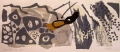 black redstart song ‐ screenprint & paper collage ‐ 36 x 76 cms ‐ £120 ‐     ‐GregPoole