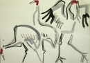 229‐7527 sarus crane <br /> bharatpur, india <br /> gouache <br /> 29.7 x 42 cms (A3) <br /> SOLD&#8208;Greg&nbsp;Poole