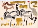 229‐7522sarus crane <br /> bharatpur, india <br /> gouache <br /> 21 x 29.7cms (A4) <br /> £120‐GregPoole