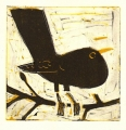 158‐6150 <b>blackbird</b>  monotype 22 x 22 cms £80‐Greg Poole