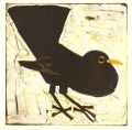158‐6151 <b>blackbird</b>  monotype  22 x 22 cms £80‐Greg Poole
