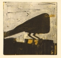 158‐6152 <b>blackbird</b>  monotype 22 x 22 cms £80‐Greg Poole