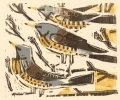 158‐6469 <b>fieldfares in ash</b>  woodcut  £95‐Greg Poole