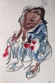 liben plains girl 1 ‐ gouache & wax crayon ‐ 36 x 24 cms ‐ £110 ‐     ethiopia‐Greg Poole