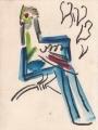 Prince Ruspoli's Turaco ‐ gouache & wax crayon ‐ 24 x 18 cms ‐ £60 ‐     ethiopia‐GregPoole