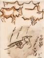 sidamo lark & cattle ‐ gouache ‐ 24 x 18 cms ‐ £55 ‐     ethiopia‐GregPoole