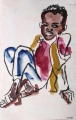 liben plains boy 1 ‐ gouache & wax crayon ‐ 36 x 24 cms ‐ £60 ‐     ethiopia‐Greg Poole