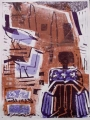 83‐5267 <b>seated girl & bush crows</b>   A1 (84 x 59.4 cms) £220&#8208;Greg&nbsp;Poole