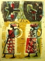 83‐5269 <b>women walking & turacos 3</b>   A1 (84 x 59.4 cms) £300&#8208;Greg&nbsp;Poole
