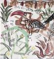 hornbill, euphorbia sp. & aloes ‐ gouache & wax crayon ‐ 30 x 28 cms ‐ £POA ‐     ethiopia‐GregPoole