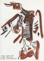 long-crested eagle ‐ gouache & wax crayon ‐ 24 x 18 cms ‐ £50 ‐     ethiopia‐Greg Poole