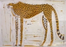 <b>cheetah</b>      monoprint      SOLD‐Greg Poole
