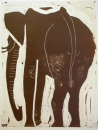 <b>elephant</b>      monotype   52 x 40 cms   £220‐Greg Poole