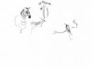 <b>zebra, impala & bee-eater</b>    inkpen  A3  £50‐GregPoole