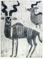 110‐5970 <b>greater kudu</b> Etosha, Namibia monotype 77 x 56 cms £250‐Greg Poole