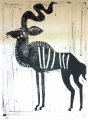 110‐5972 <b>greater kudu</b> Etosha, Namibia monotype 77 x 56 cms £250‐Greg Poole