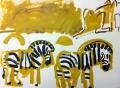 110‐5989<b>lion & zebra</b>Etosha, Namibiaacrylic76 x 57 cms£120‐GregPoole