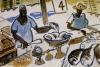 <b>barbados oistins fish market</b> &emsp;  &emsp; gouache &emsp; 42 x 57 cms &emsp; £150&#8208;Greg&nbsp;Poole