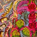 43‐1586<b>martagon lily & adenostyle, waterfall</b>acrylic59 x 56 cms£350‐GregPoole