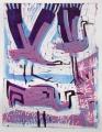 66‐3437<b>3 cranes</b>monoprint49 x 38 cms‐GregPoole