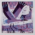 66‐3439 <b>crane landing</b>  monoprint 21 x 21 cms SOLD&#8208;Greg&nbsp;Poole