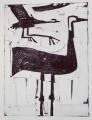 66‐3442<b>crane landing</b>monoprintc. A4 (29.7 x 21cms)&#8208;Greg&nbsp;Poole