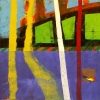 <b>buckholt wood series  - 4</b>      card print & acrylic   39 x 39 cms   £250‐Greg Poole