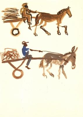 horse & donkey carts