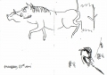 211&#8208;6856&emsp;<b>woodchat & warthog</b>&emsp;djoudj sahel&emsp;ink pen&emsp;A6 sketchbook&emsp;&#8208;Greg&nbsp;Poole
