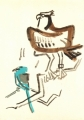 208‐6816<b>osprey & roller</b>savannah nr. palmaringouache35 x 25 cms&#8208;Greg&nbsp;Poole
