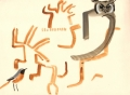 208‐6825<b>redstart & verraux's eagle owl</b>savannah nr. palmaringouache28 x 38 cms&#8208;Greg&nbsp;Poole