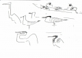 218&#8208;6940&emsp;<b>herons, caspian tern & slender billed gulls</b>&emsp;st louis&emsp;ink pen&emsp;A5 sketchbook&emsp;&#8208;Greg&nbsp;Poole