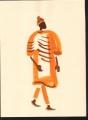 218&#8208;6949&emsp;<b>man walking</b>&emsp;st louis&emsp;gouache&emsp;38 x 28 cms&emsp;&#8208;Greg&nbsp;Poole