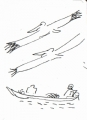 218&#8208;6951&emsp;<b>pelicans & pirogue</b>&emsp;st louis&emsp;ink pen&emsp;A6 sketchbook&emsp;&#8208;Greg&nbsp;Poole