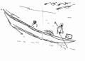 218&#8208;6959&emsp;<b>pirogue & pelicans</b>&emsp;st louis&emsp;ink pen&emsp;A6 sketchbook&emsp;&#8208;Greg&nbsp;Poole