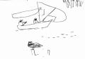 218&#8208;6955&emsp;<b>osprey & sail boat</b>&emsp;st louis&emsp;ink pen&emsp;A6 sketchbook&emsp;&#8208;Greg&nbsp;Poole